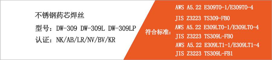 不锈钢药芯焊丝DW-309
