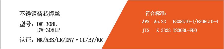 不锈钢药芯焊丝DW-308L/DW-308LP